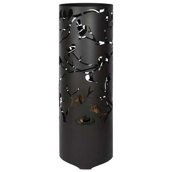 Esschert Design Coș de foc Birds on Twig, negru, oțel carbon FF409