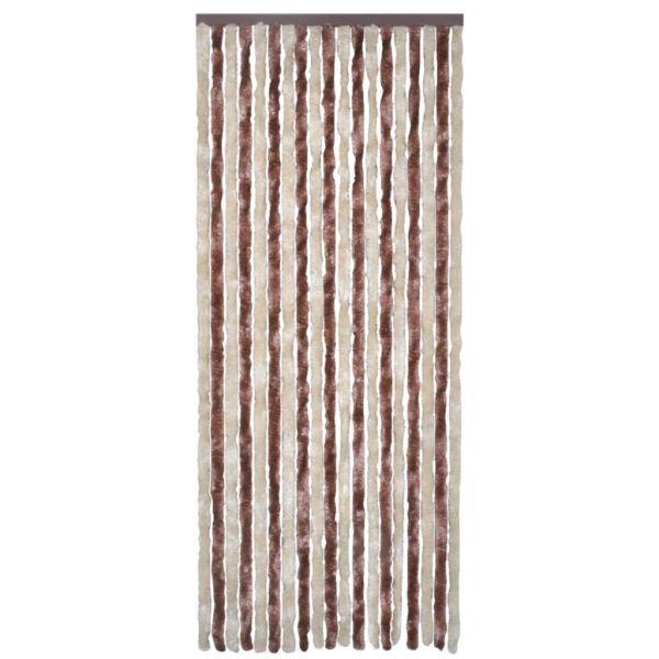 Perdea pentru insecte, bej și maro deschis, 90×220 cm, Chenille
