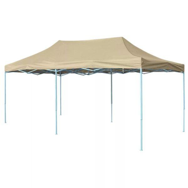 42507 vidaXL Foldable Tent Pop-Up 3×6 m Cream White