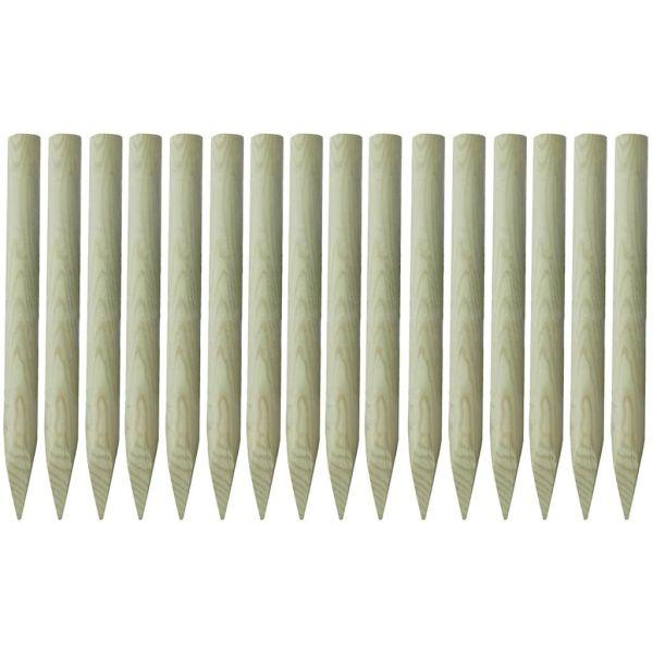 vidaXL Stâlpi de gard ascuțiți, 16 buc., 100 cm, lemn tratat