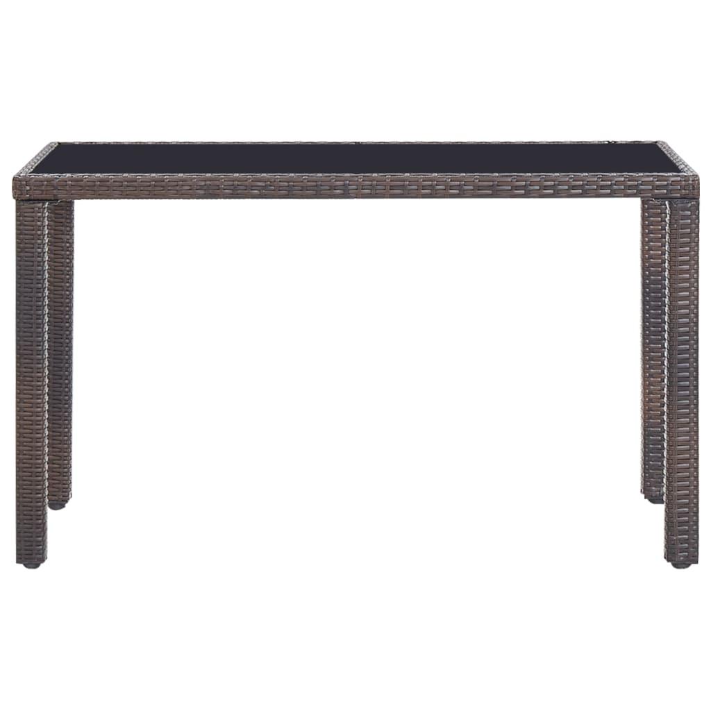 Set mobilier de exterior cu perne, 5 piese, maro, poliratan