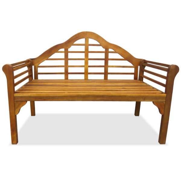 Bancă de grădină cu 2 locuri, lemn masiv de acacia