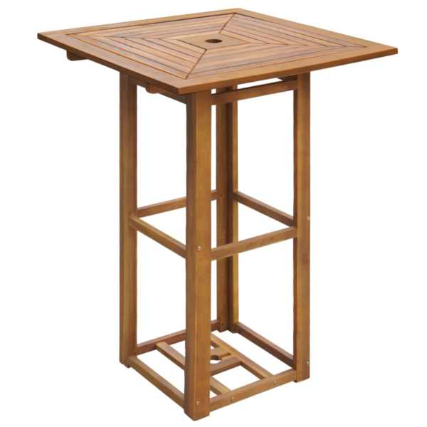 Set bistro, 3 piese, lemn masiv de acacia