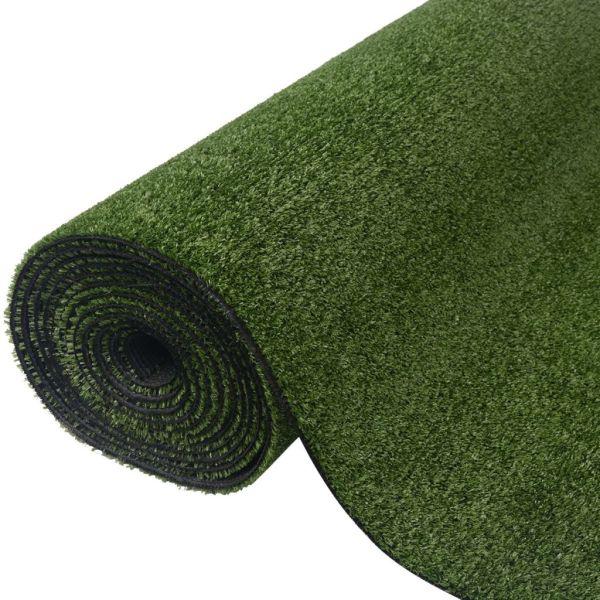 vidaXL Gazon artificial, 1,5 x 10 m/7-9 mm, verde