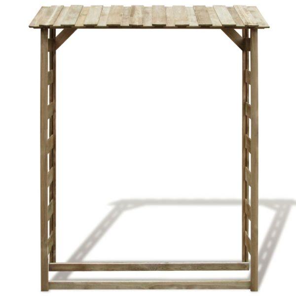 Șopron lemne de foc, 150 x 44 x 176 cm, lemn de pin tratat