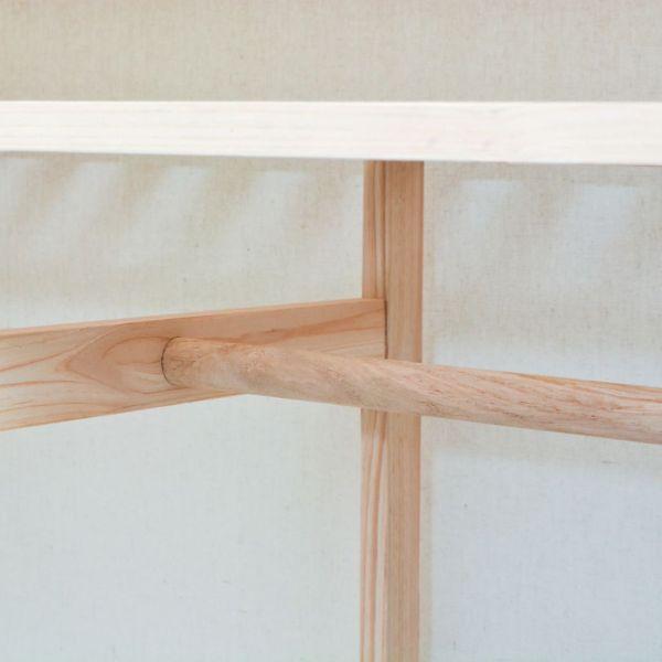 Dulap din material textil și lemn de pin 110 x 40 x 170 cm