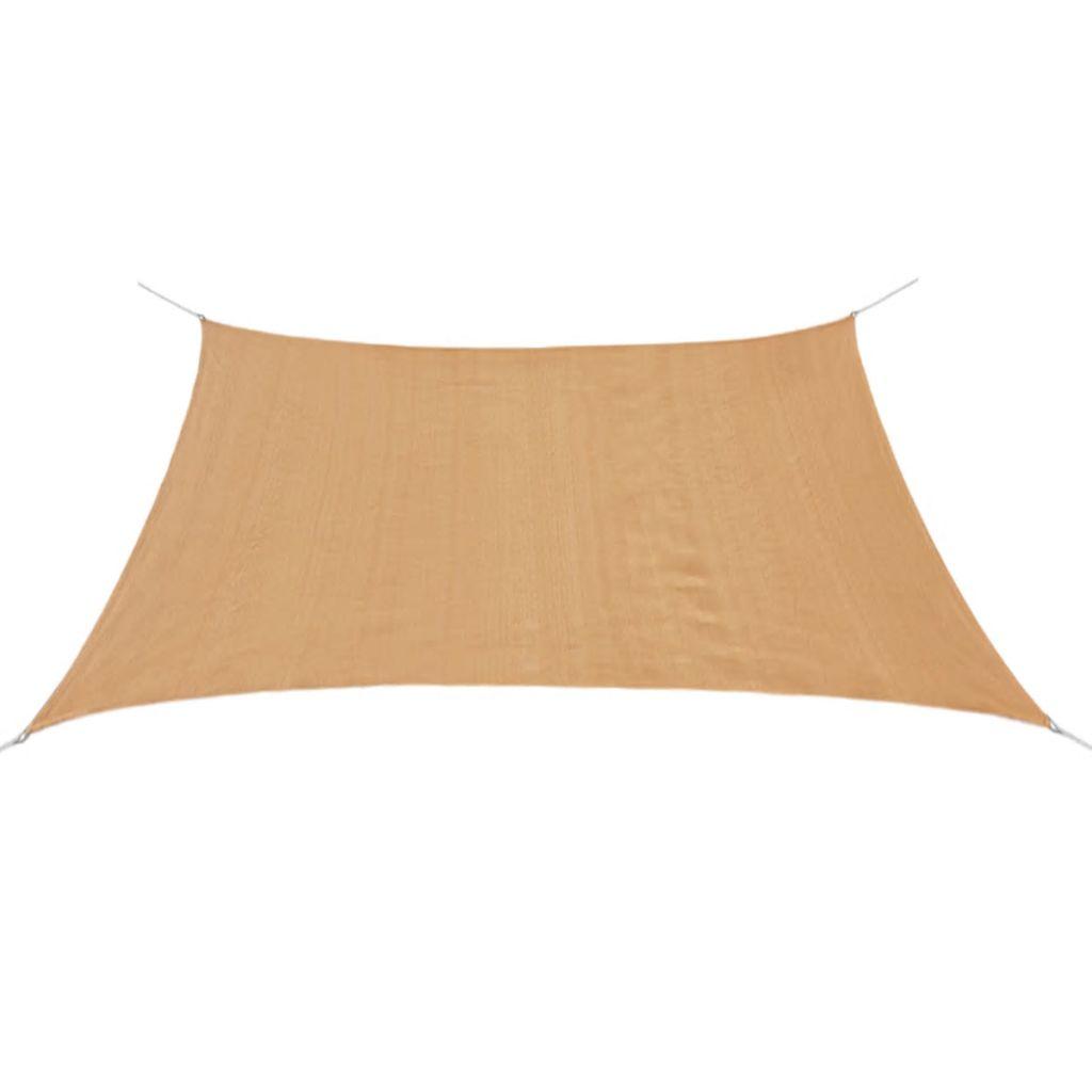 vidaXL Pânză parasolar, bej, 2 x 2 m, HDPE, pătrat