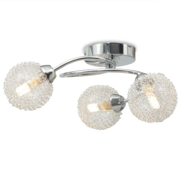 vidaXL Lampă de plafon cu 3 becuri LED G9 120 W