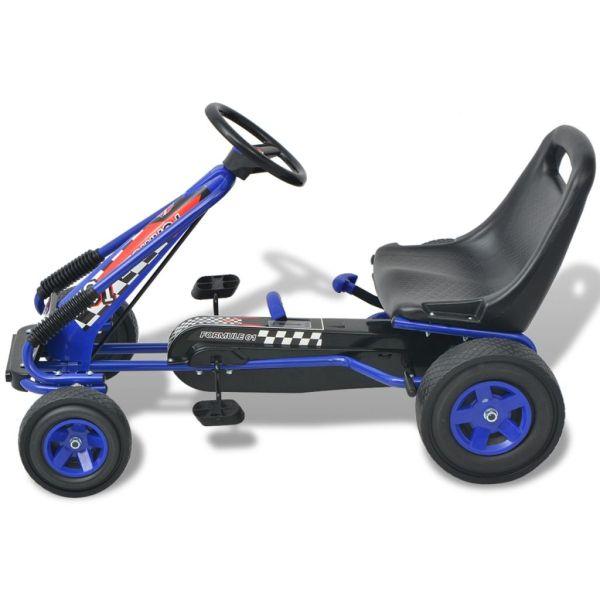 vidaXL Mașină Go Kart cu scaun reglabil, albastru