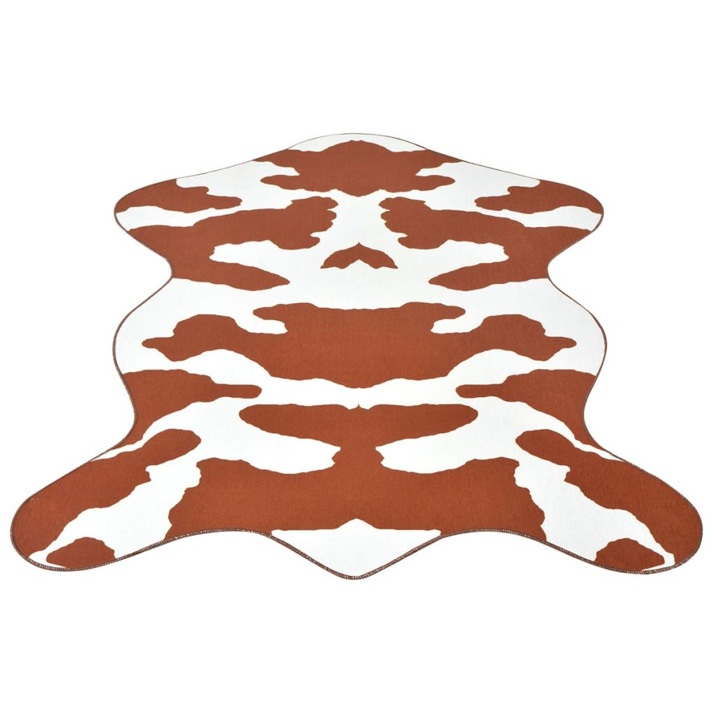 vidaXL Covor decupat cu imprimeu vacă, 110 x 150 cm, maro