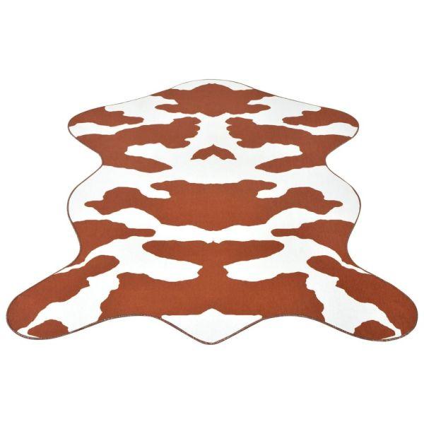 vidaXL Covor formă văcuță, imprimeu văcuță 150 x 220 cm, maro