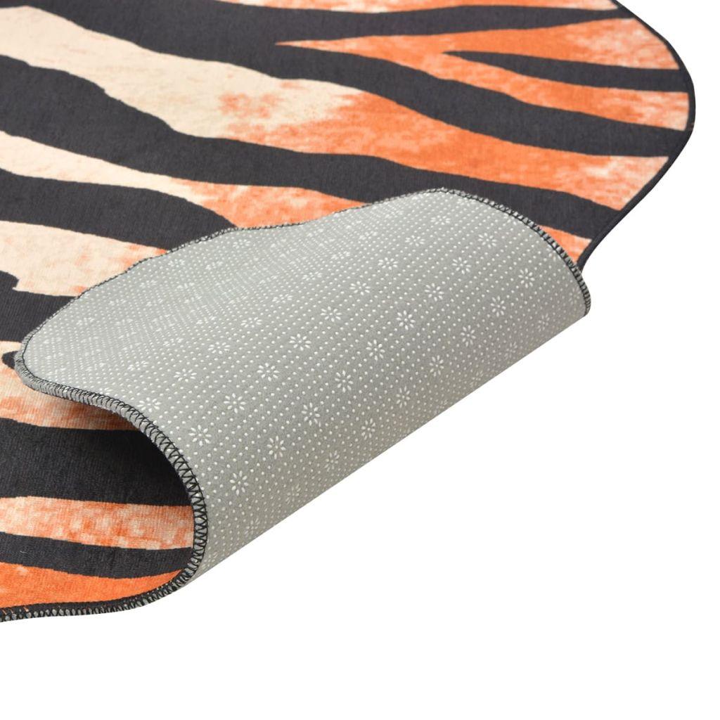 Covor decupat cu imprimeu tigru, 70 x 110 cm