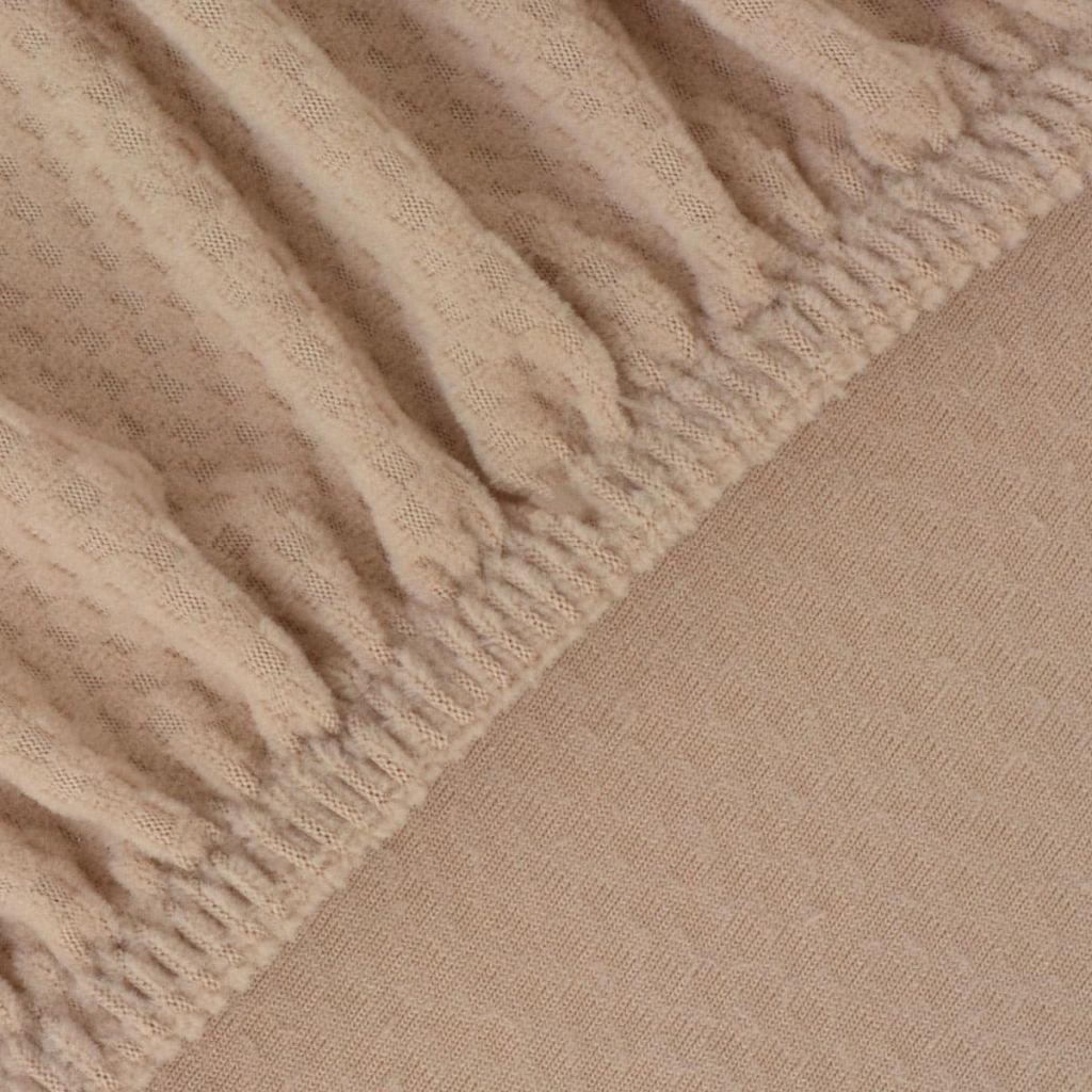 Husă elastică pentru canapea, textură striată, bej