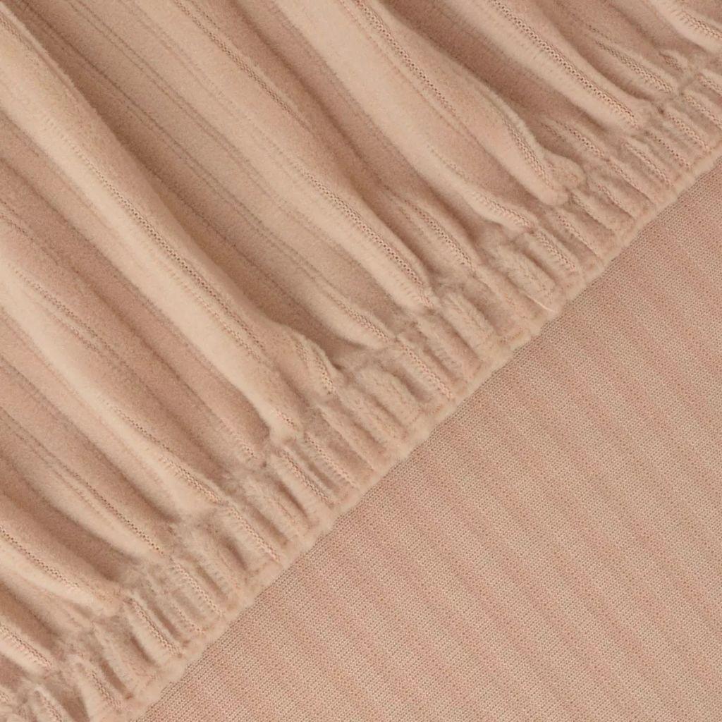 Husă elastică pentru canapea, cu dungi late, bej