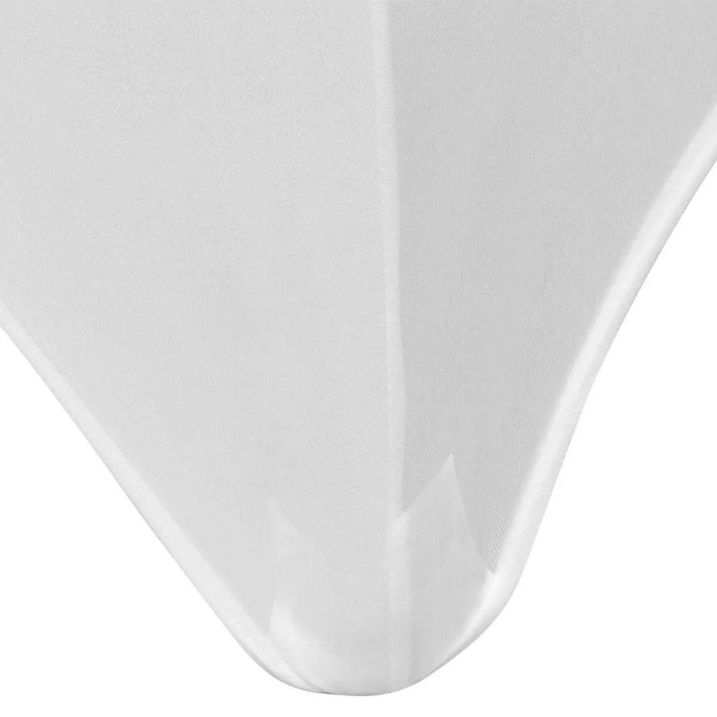 Huse elastice pentru masă, 120 x 60,5 x 74 cm , alb, 2 buc.