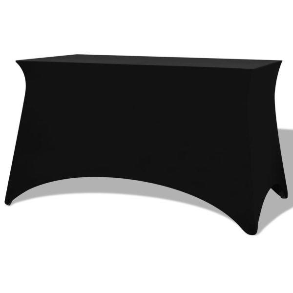 vidaXL Huse de masă elastice, 2 buc, 243 x 76 x 74 cm, negru