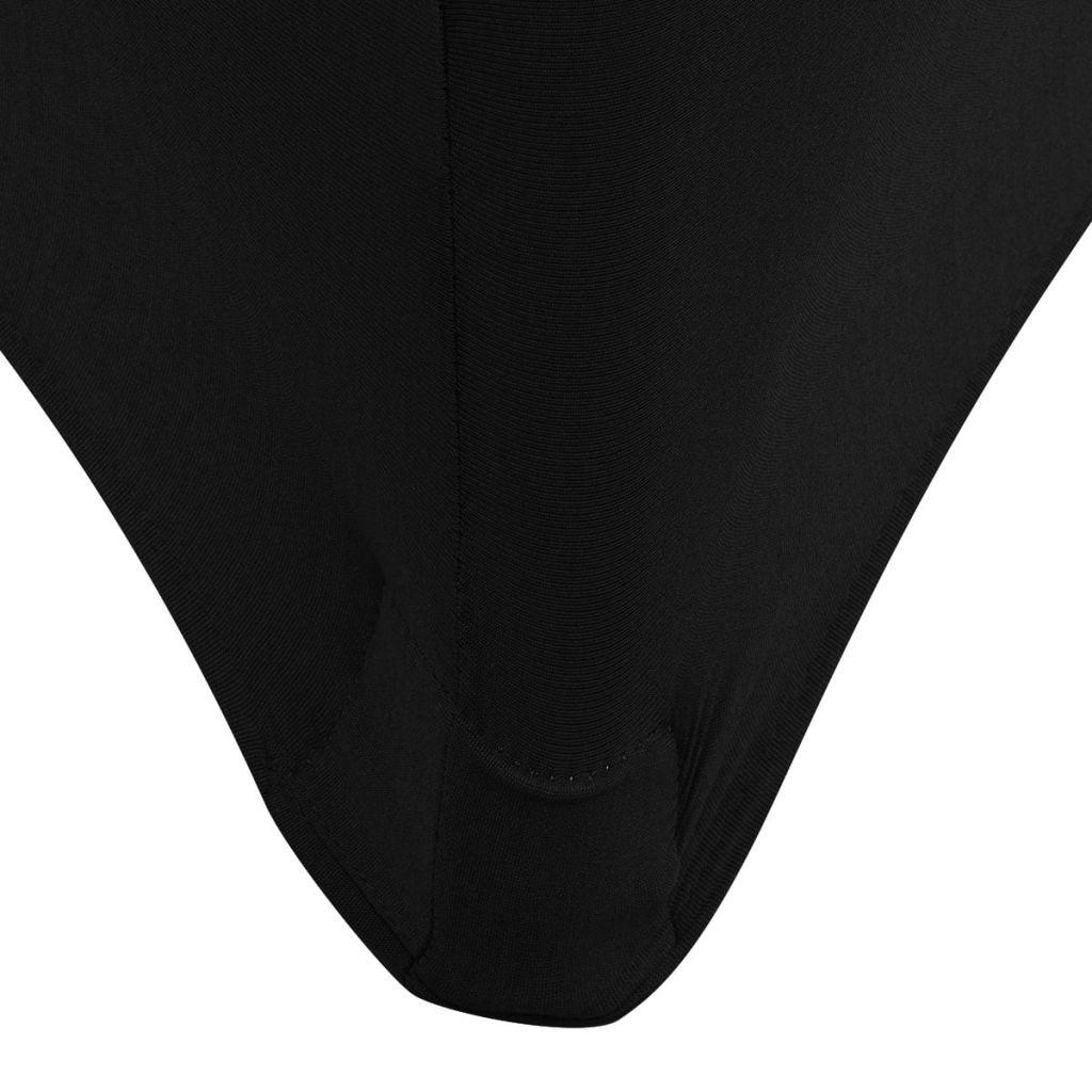 Huse de masă elastice, 2 buc, 243 x 76 x 74 cm, negru
