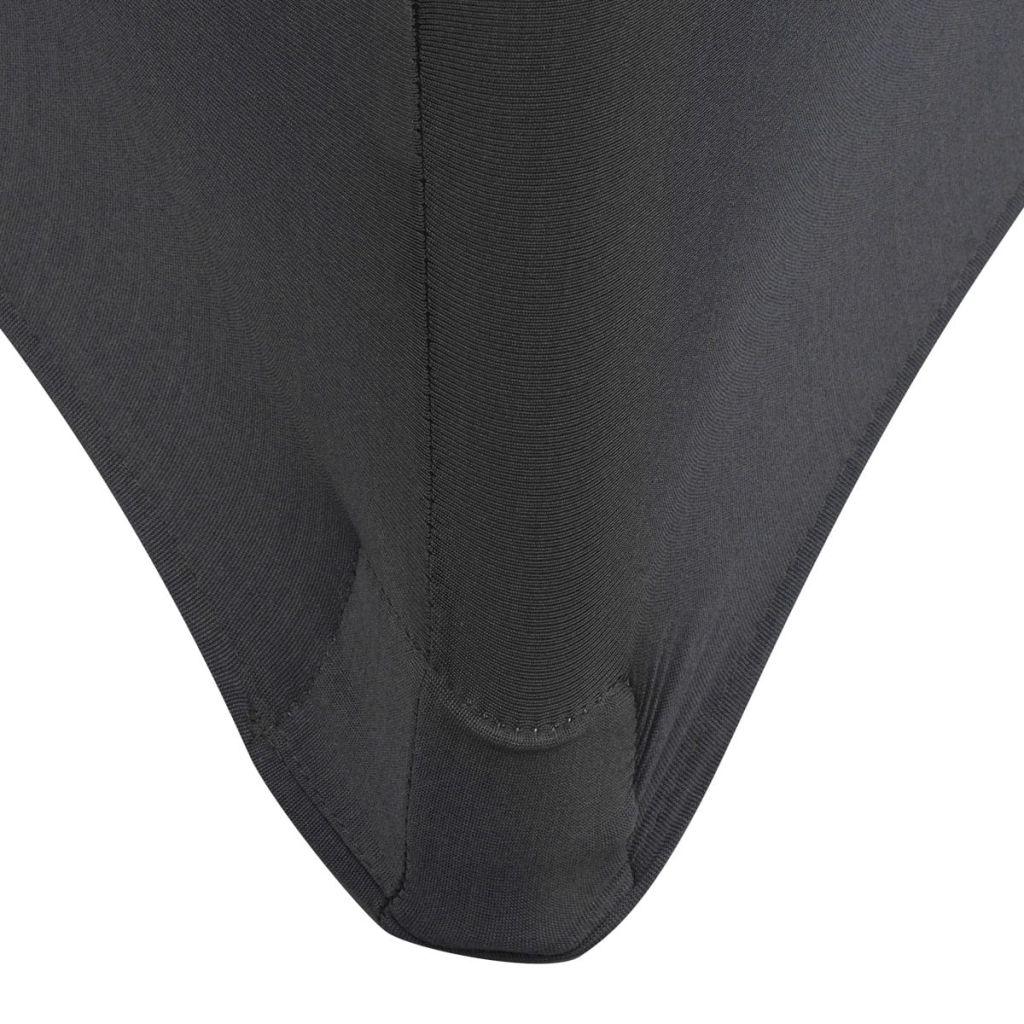Huse elastice pentru masă, 2 buc, 120 x 60,5 x 74 cm, antracit