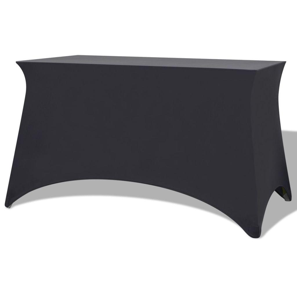 vidaXL Huse de masă elastice, antracit, 183 x 76 x 74 cm , 2 buc.