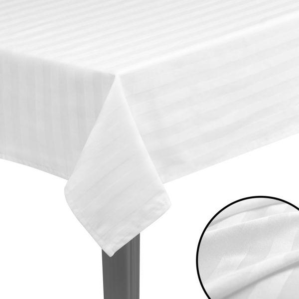 vidaXL Fețe de masă, bumbac satin, 5 buc, alb, 100 x 100 cm