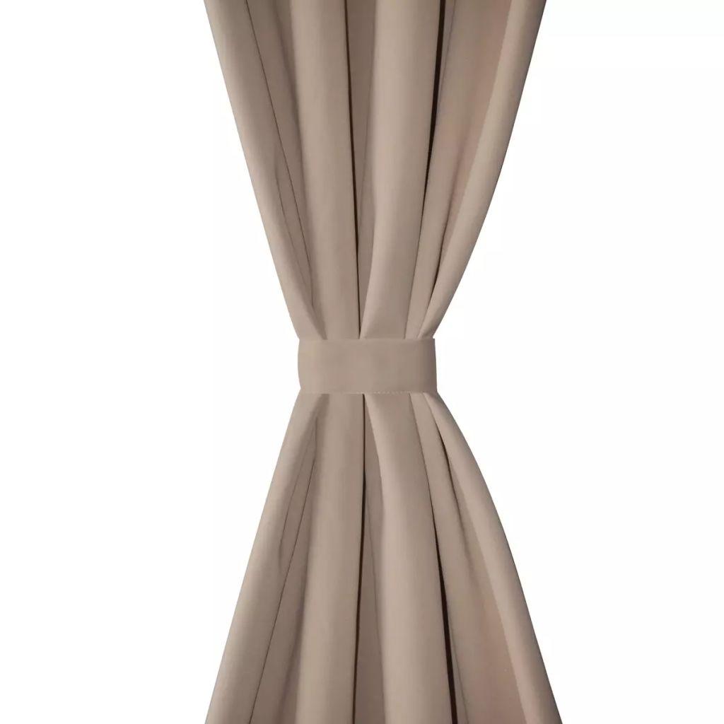 Draperii opace cu ocheți metalici, 2 buc, 135 x 175 cm, crem