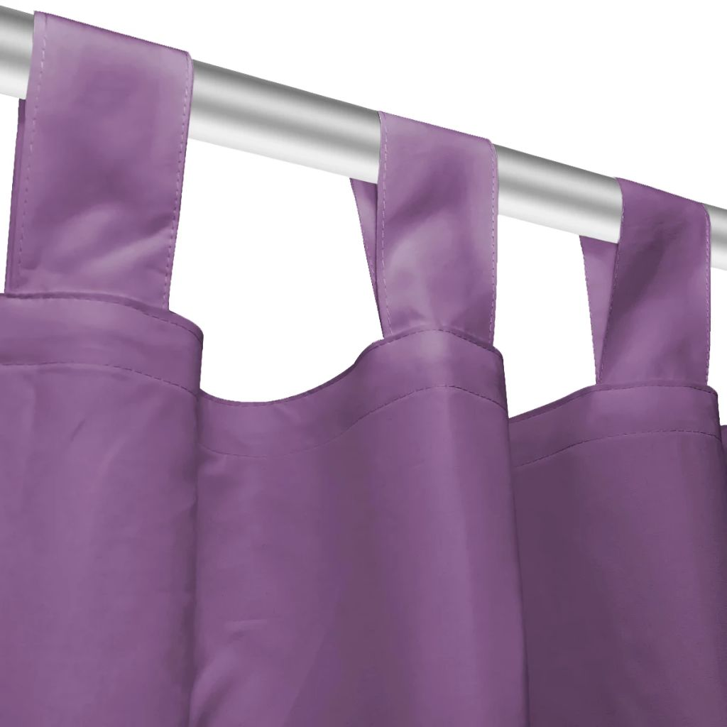 vidaXL Draperii micro-satin cu bride, 2 buc, 140 x 245 cm, violet