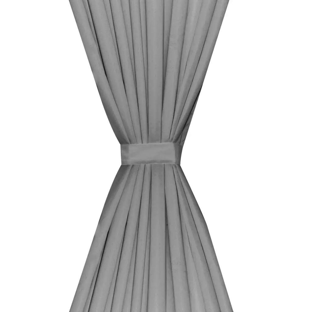 vidaXL Draperii opace., 2 buc, strat dublu, 140 x 175 cm, gri