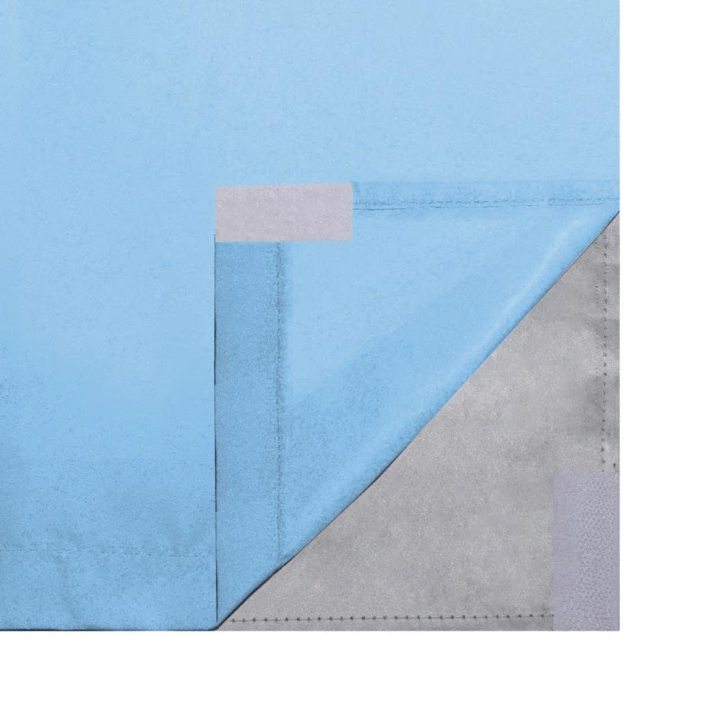 vidaXL Draperii opace, 2 buc., strat dublu, 140 x 245 cm, turcoaz
