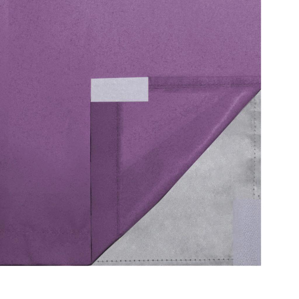 vidaXL Draperii opace, 2 buc., strat dublu, 140 x 245 cm, violet