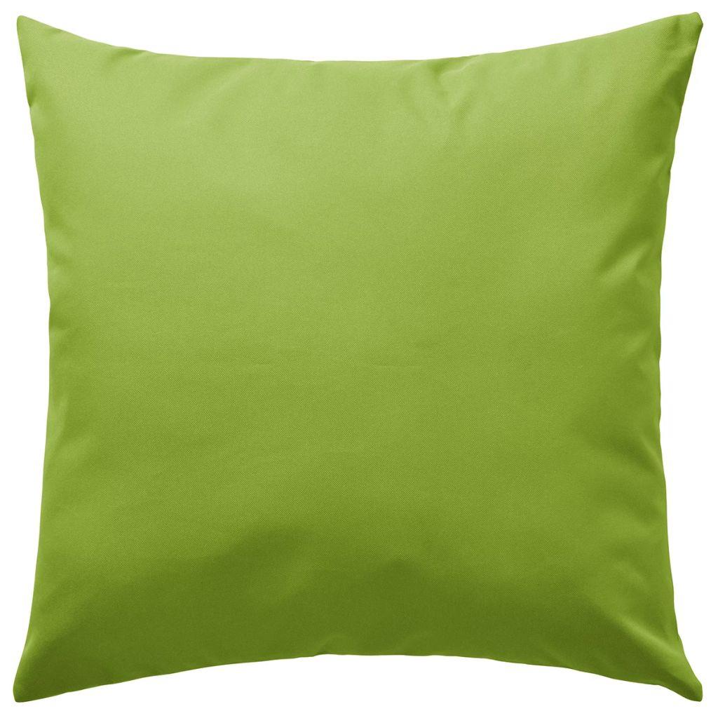 Perne de exterior, 2 buc., verde măr, 45 x 45 cm