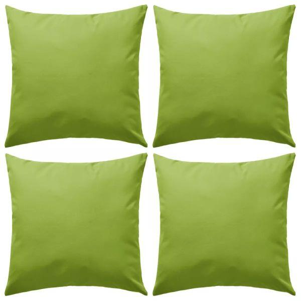 vidaXL Perne de exterior, 4 buc., verde măr, 45 x 45 cm
