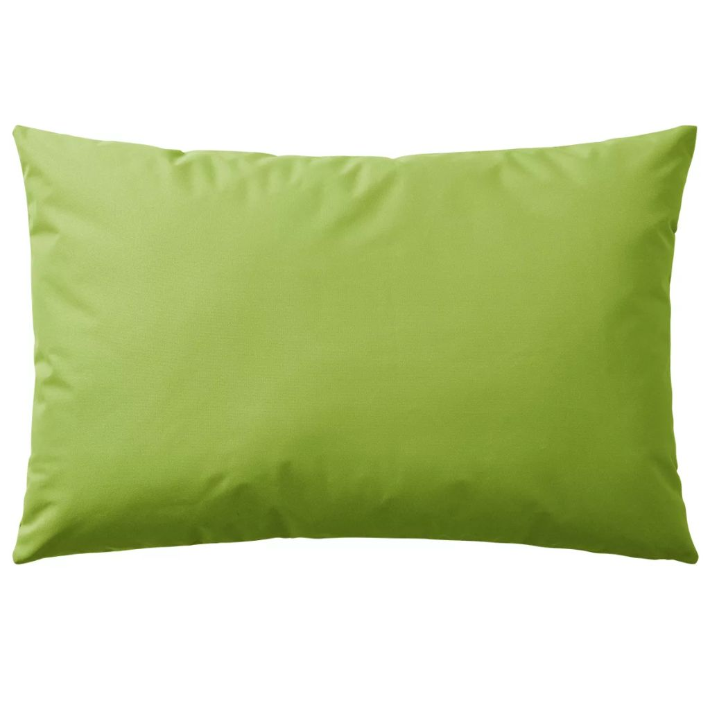 Perne de exterior, 4 buc., verde măr, 60 x 40 cm