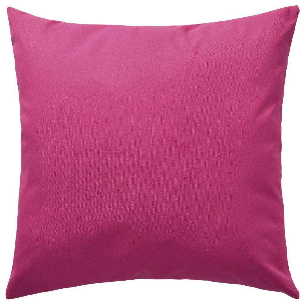 Perne de exterior, 2 buc., roz, 45 x 45 cm