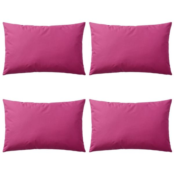 vidaXL Perne de exterior, 4 buc, roz, 60 x 40 cm