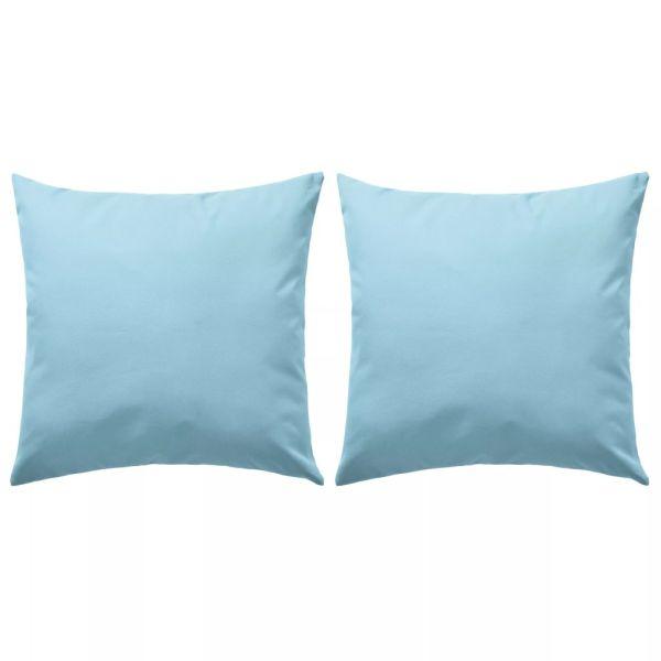 vidaXL Perne de exterior, 2 buc., albastru deschis, 45 x 45 cm