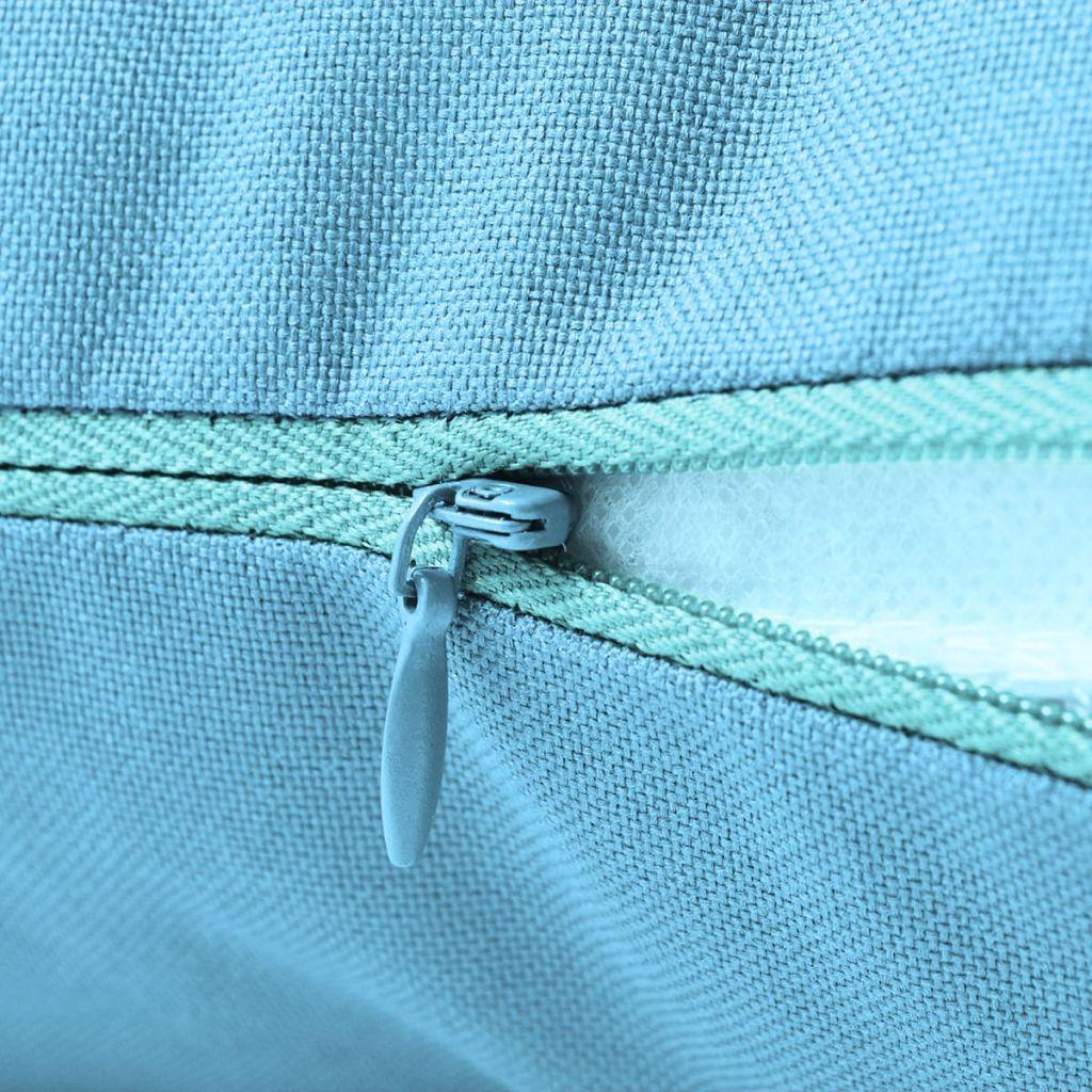 Perne de exterior, 2 buc., albastru deschis, 45 x 45 cm
