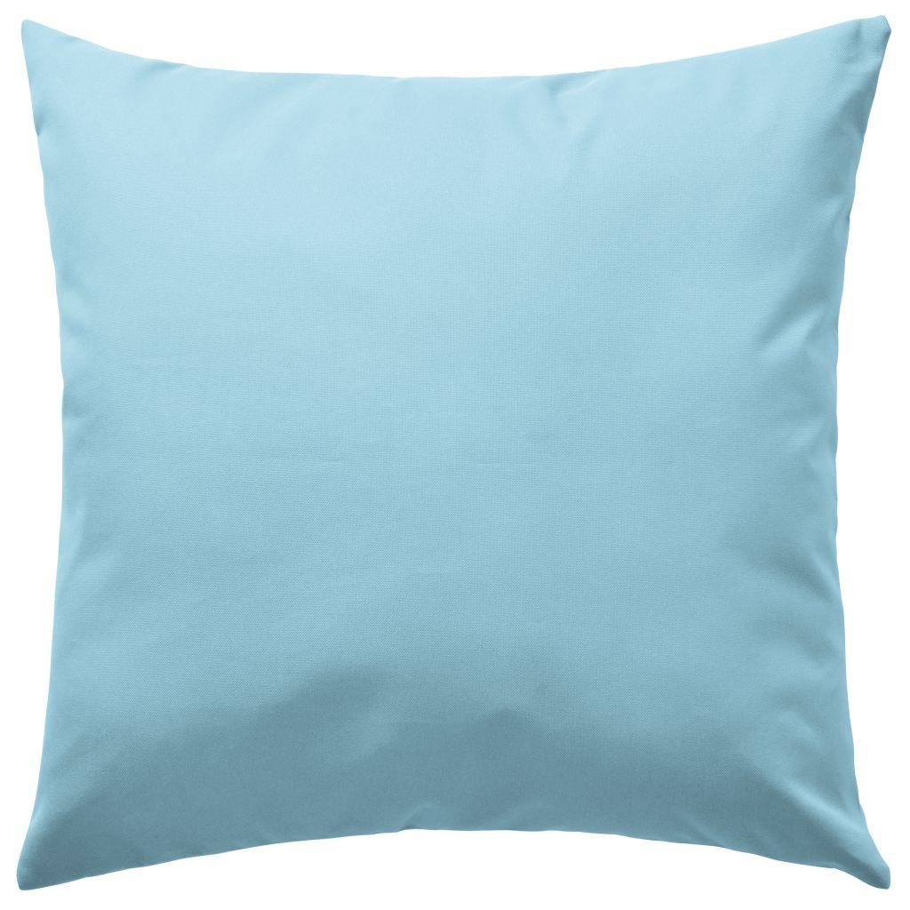 Perne de exterior, 4 buc., albastru deschis, 45 x 45 cm