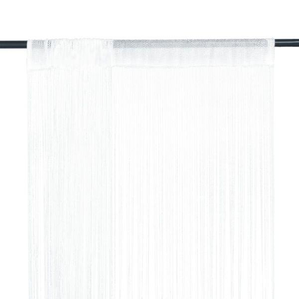 vidaXL Draperii cu franjuri, 2 buc., 140 x 250 cm, alb
