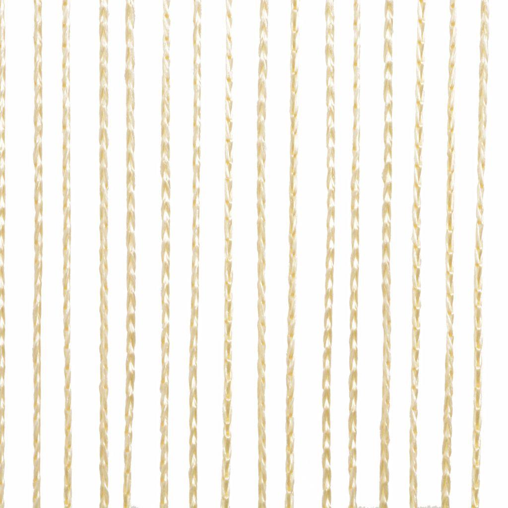 Draperii cu franjuri, 2 buc., 100 x 250 cm, crem