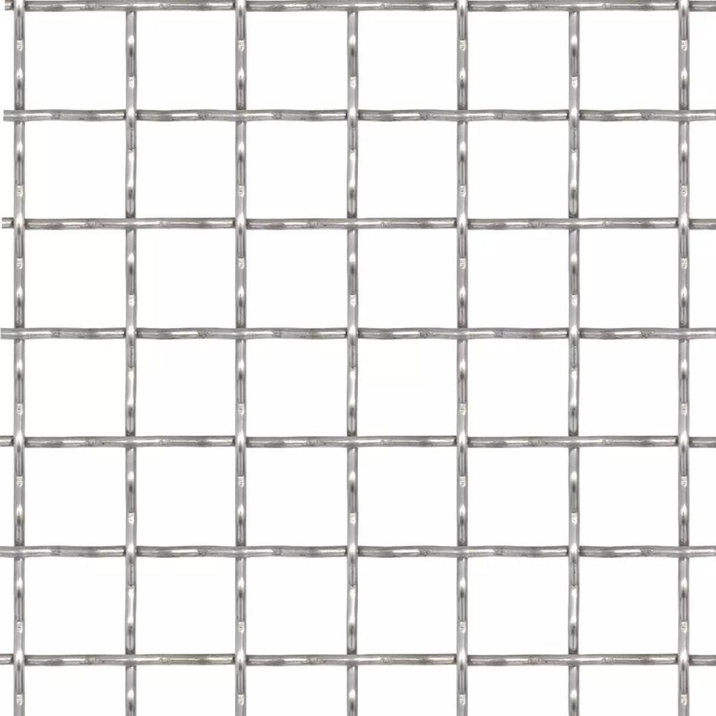 Gard de sârmă sertizată, 50×50 cm, 11x11x2 mm, oțel inoxidabil