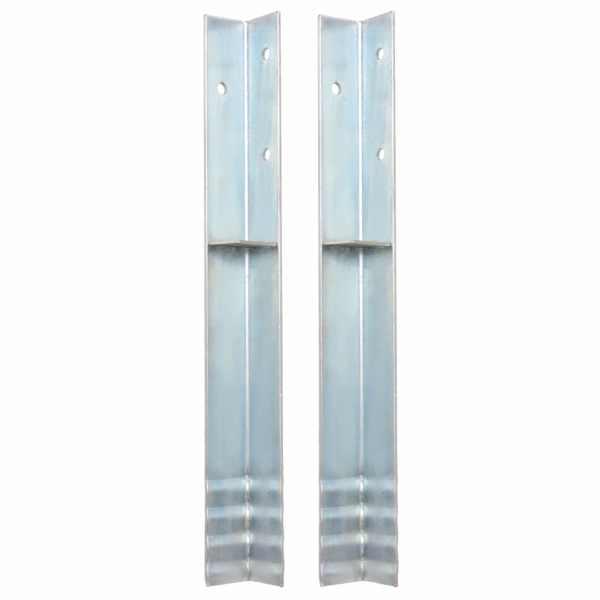 vidaXL Ancore de sol în formă de L, 2 buc, oțel galvanizat, 5x5x50 cm