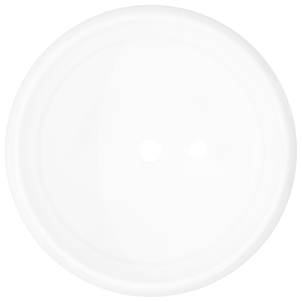 Chiuvetă de baie rotundă, alb, 40 x 15 cm, ceramică