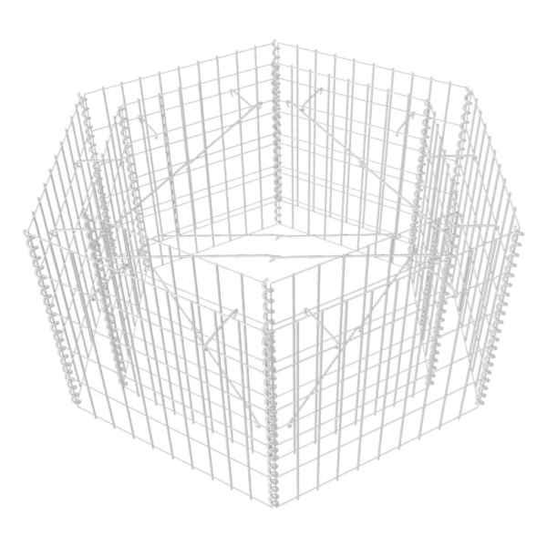 Strat înălțat gabion hexagonal, 100 x 90 x 50 cm