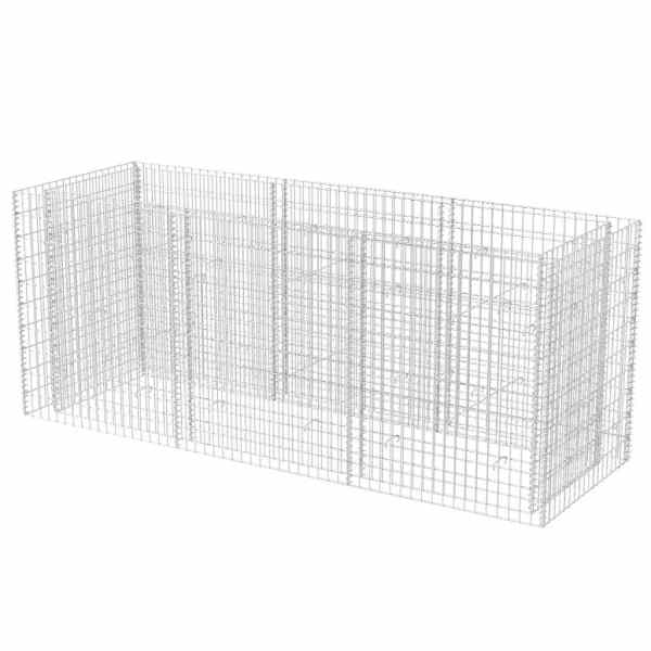 vidaXL Strat înălțat gabion, 270 x 90 x 100 cm, oțel