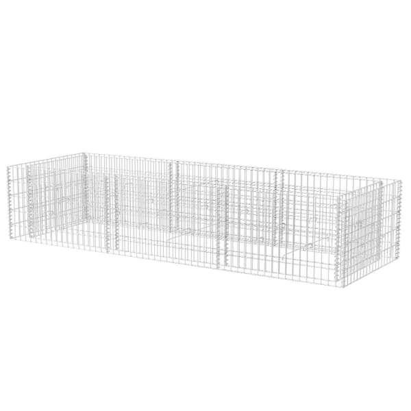 vidaXL Strat înălțat gabion, 270 x 90 x 50 cm, oțel