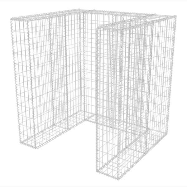 Gabion unic îngrădire pubelă, oțel, 110 x 100 x 120 cm