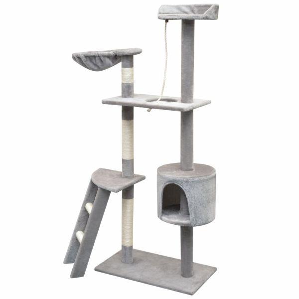 vidaXL Ansamblu pisici, stâlpi cu funie de sisal, 150 cm, gri
