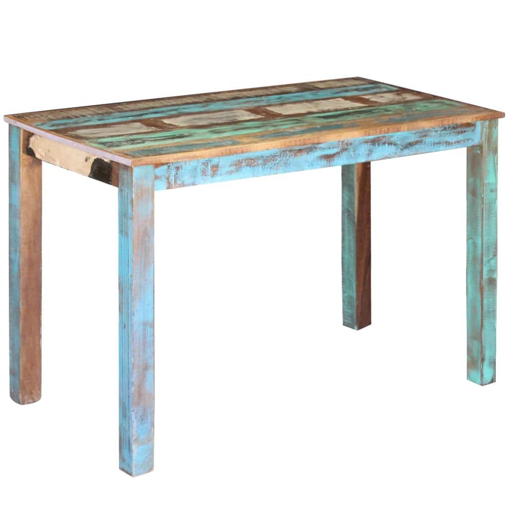 vidaXL Masa bucătărie din lemn masiv reciclat, 115x60x76 cm