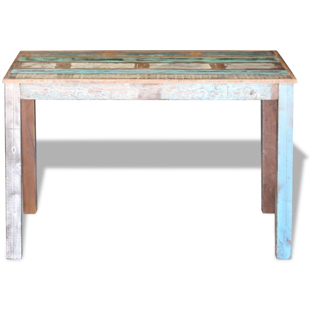 Masa bucătărie din lemn masiv reciclat, 115x60x76 cm