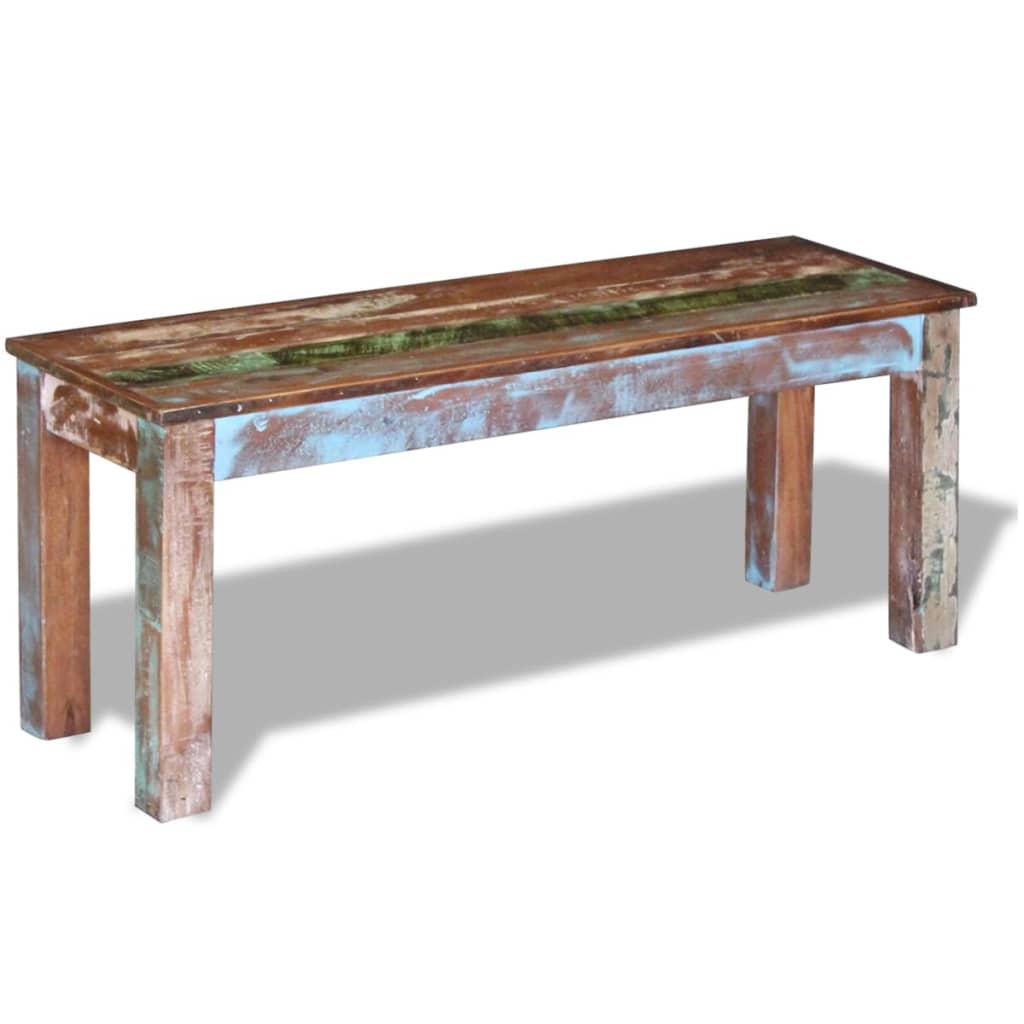 vidaXL Bancă solidă din lemn reciclat 110 x 35 x 45 cm